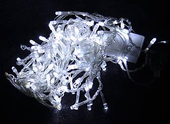 Гирлянда бахрома на 100 led белая (прозрачная гирлянда)