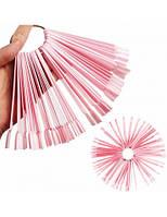 Демонстрационная палитра-веер на кольце 50 типс Nail Art