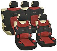 Майки автомобильные MILEX Prestige 4 полный к-т 2пер+2задн+5подг цвет красные