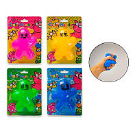 Игрушка антистрес В26087 рез.человечки, 9-11 см, 4 цвет.на планшетке