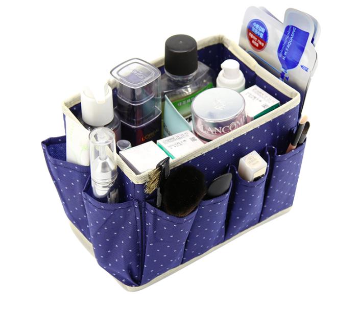 Органайзер для косметики, бижутерии и принадлежностей (синий)