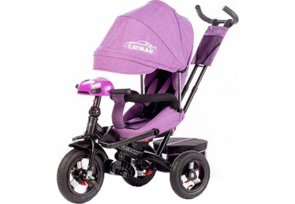 Велосипед трехколесный Tilly Cayman T-381 с пультом, усиленной рамой, поворотным сиденьем, Фиолетовый