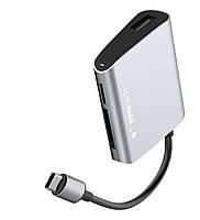 USB-хаб Baseus Enjoyment series Type-C to SD+TF Card+USB2.0 HUB Adapter , фото 1