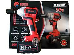 Гайковерт аккумуляторный Edon ED-BS-3601 36В 4А/Ч