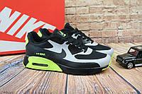 Кроссовки Classik А962 (Nike Brand) (весна-осень, мужские, текстиль, черно-салатовой), фото 1