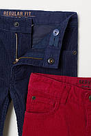 Штаны котоновые синий велвет H&M