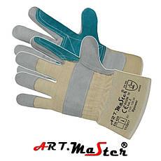 Перчатки спилковые комбинированые рабочие Польша Rpower b