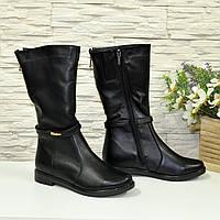 Кожаные зимние женские ботинки на низком ходу. В наличии 36 размер