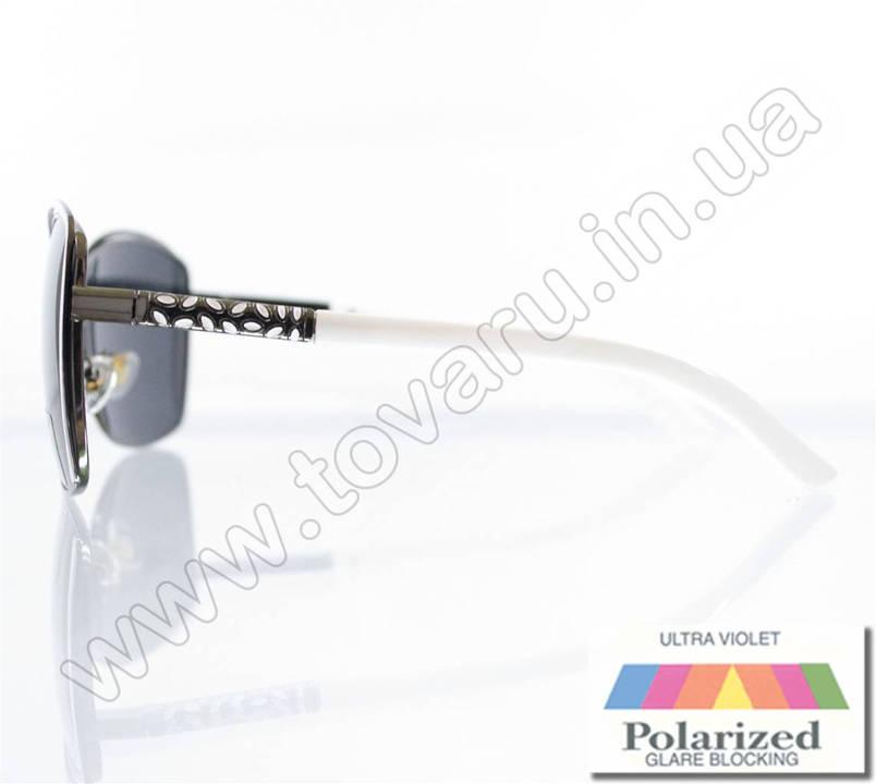Оптом Окуляри жіночі сонцезахисні поляризаційні - Білі - 8215, фото 2