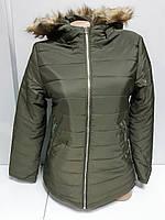 Куртка Женская Демисезонная Forever 21 Болоневая с Капюшоном Размер L