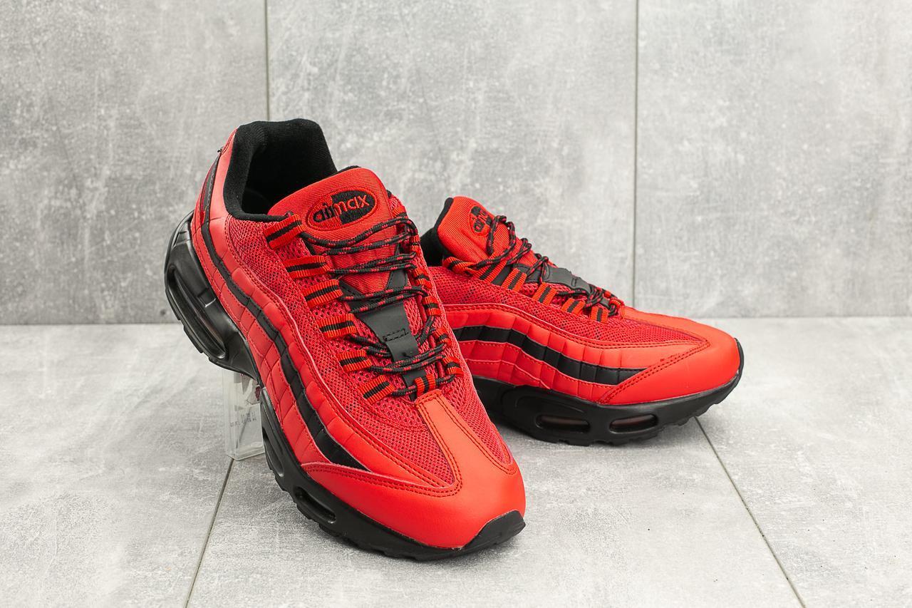 Кроссовки A 95-17 (Nike Air Max 95) (весна-осень, мужские, кожзам, красно-черный)