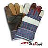 Рукавички шкіряні комбіновані робочі Польща RLKpas, фото 2