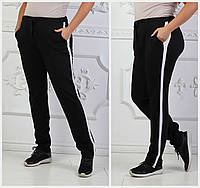 Стильные женские брюки с лампасами Батал до 54 р 17726-1, фото 1