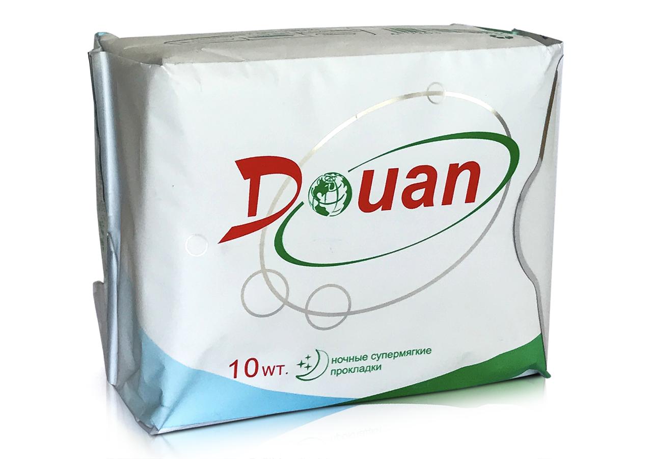 """Ночные женские прокладки Douan """"ДоЮань"""" с анионовым чипом (10 шт)"""