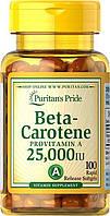 Puritan's Pride Beta-Carotene 25000 IU 100softgels