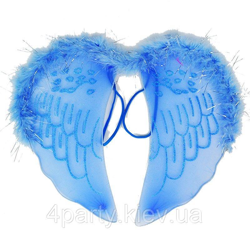 Крылышки Ангелочек узоры (голубые) 240216-559