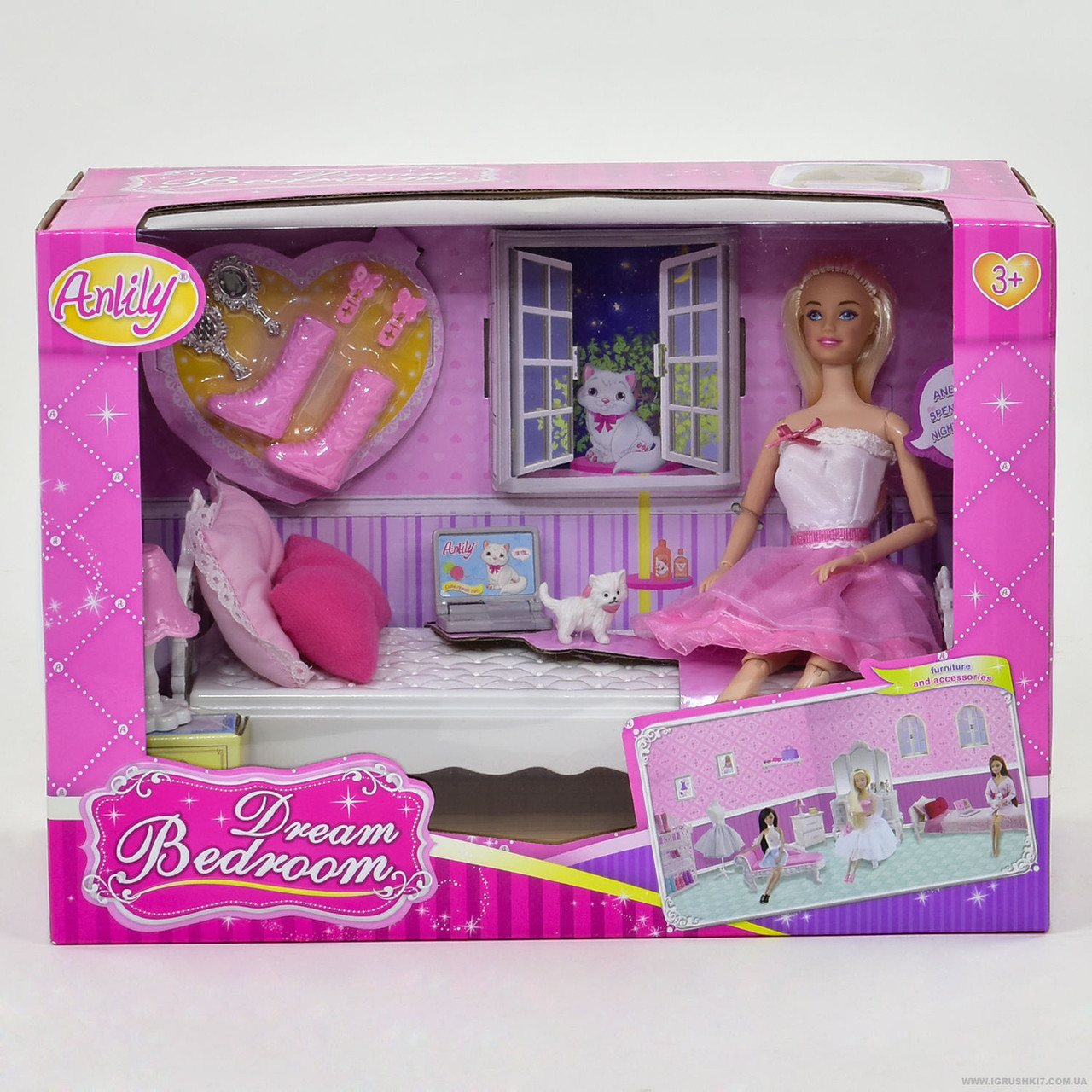 Кукла с мебелью 99051
