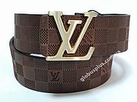 Ремень мужской кожаный Louis Vuitton ширина 40 мм., реплика 930613