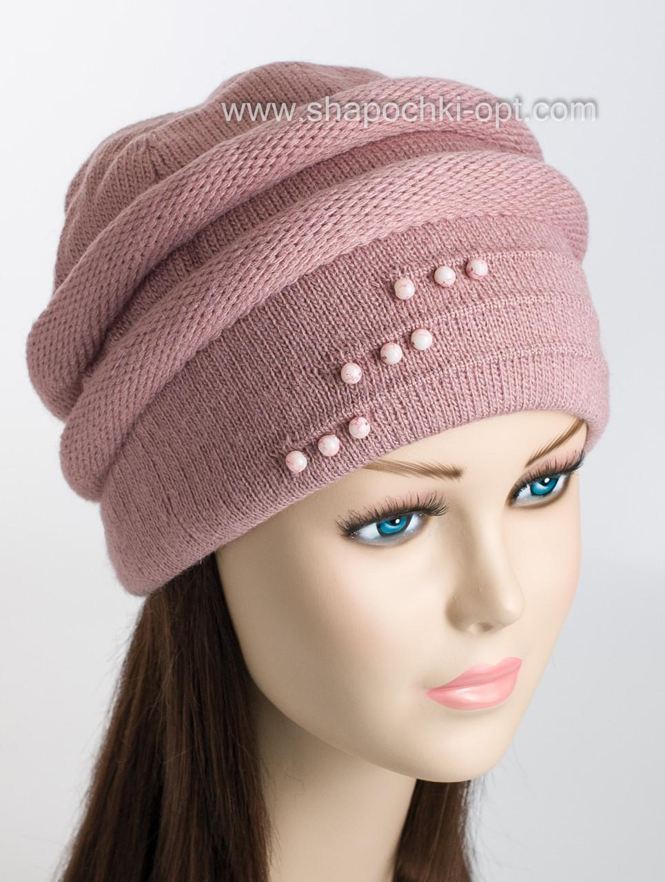 "Женская зимняя шапка ""Лучи"""