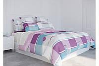 Евро комплект постельного белья ТЕП Washed cotton 004 Sweet home (Смужка гудзик)