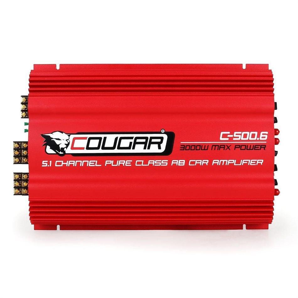 Усилитель автомобильный авто CAR AMP Cougar 500.6