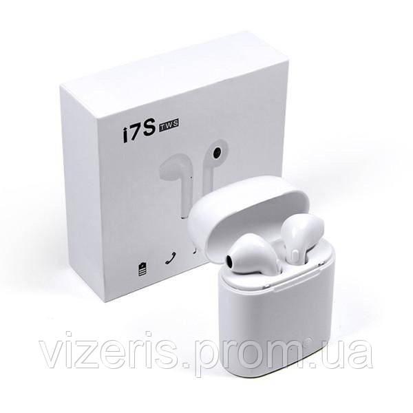 Навушники безпровідні Bluetooth i7S TWS з боксом