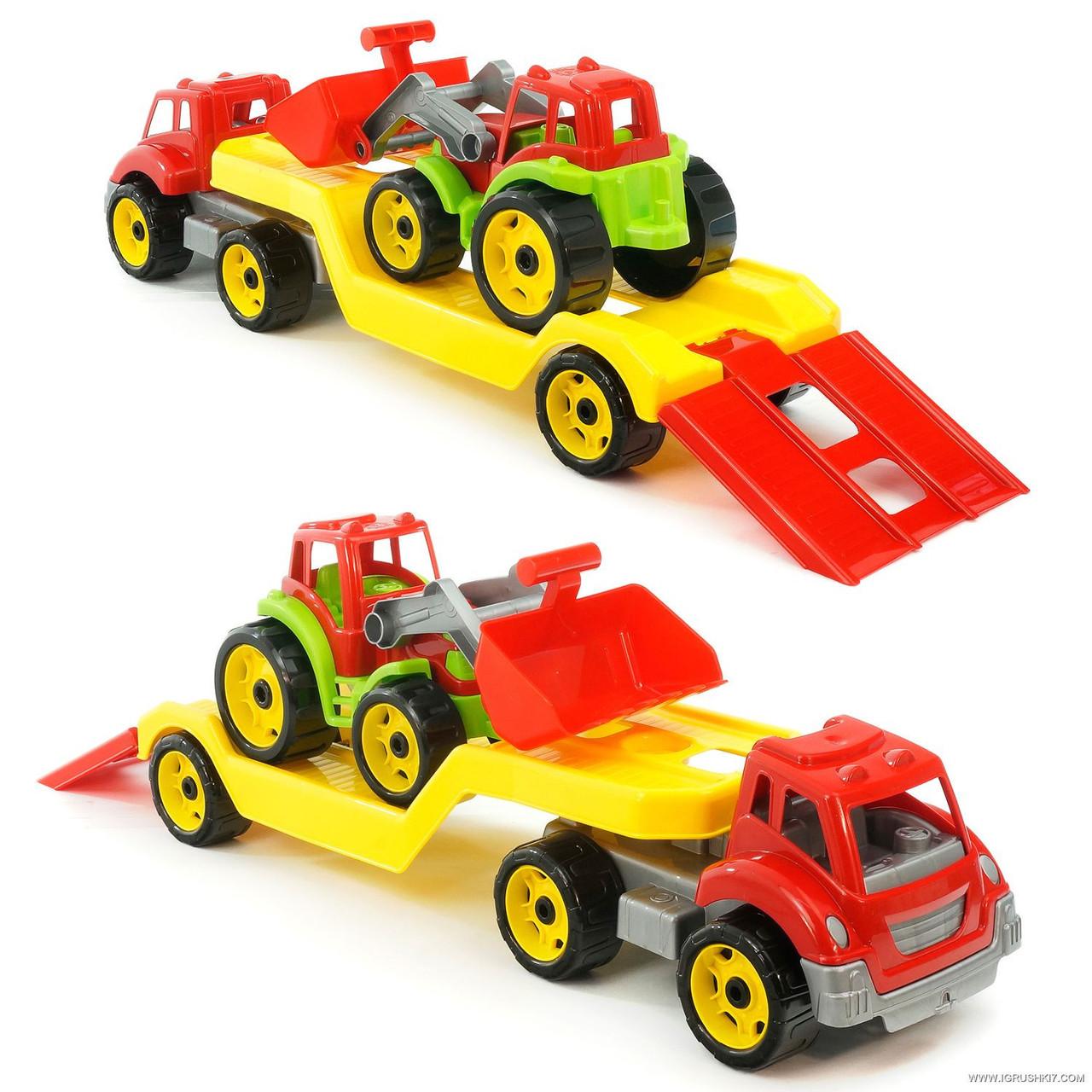 Машинка автовоз с трактором 3916