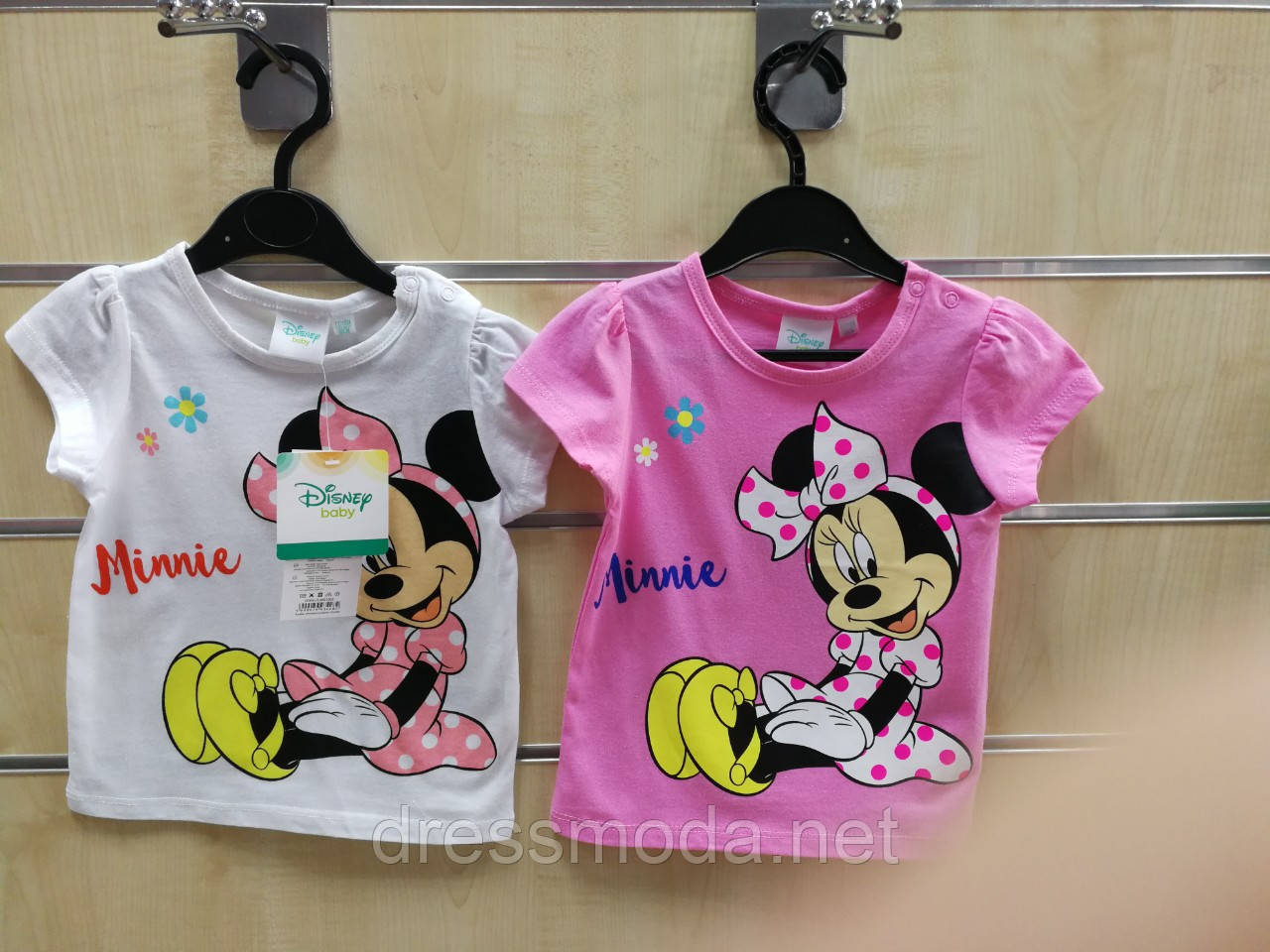 Футболки для девочек Minnie от Disney 68-86 р.р.