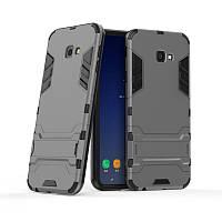 Чехол для Samsung J415 / J4 Plus 2018 Hybrid Armored Case темно-серый