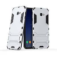 Чехол для Samsung J415 / J4 Plus 2018 Hybrid Armored Case светло-серый