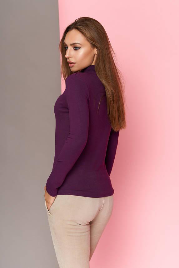 Кофта водолазка женская фиолетовая, фото 2