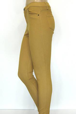Женские брюки джинсы в горчичном цвете, фото 2