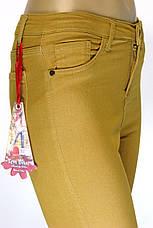 Женские брюки джинсы в горчичном цвете, фото 3