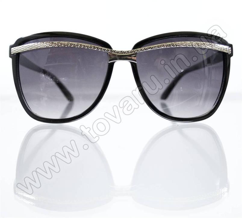 Оптом жіночі сонцезахисні Окуляри - Чорні - 8803, фото 2