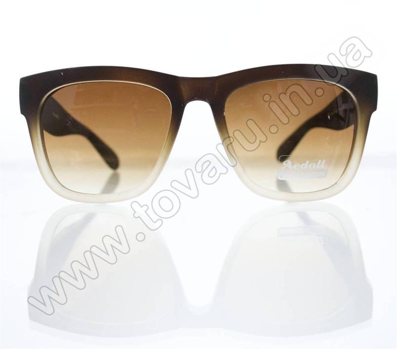 Оптом Очки унисекс солнцезащитные - Вайфарер (WAYFARER) - Коричневые - 023452, фото 2