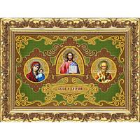 Схема для вышивки бисером Триптих «Спаси и Сохрани»