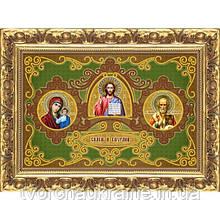 ИП-138 Триптих «Спаси и Сохрани». Схема для вышивки бисером