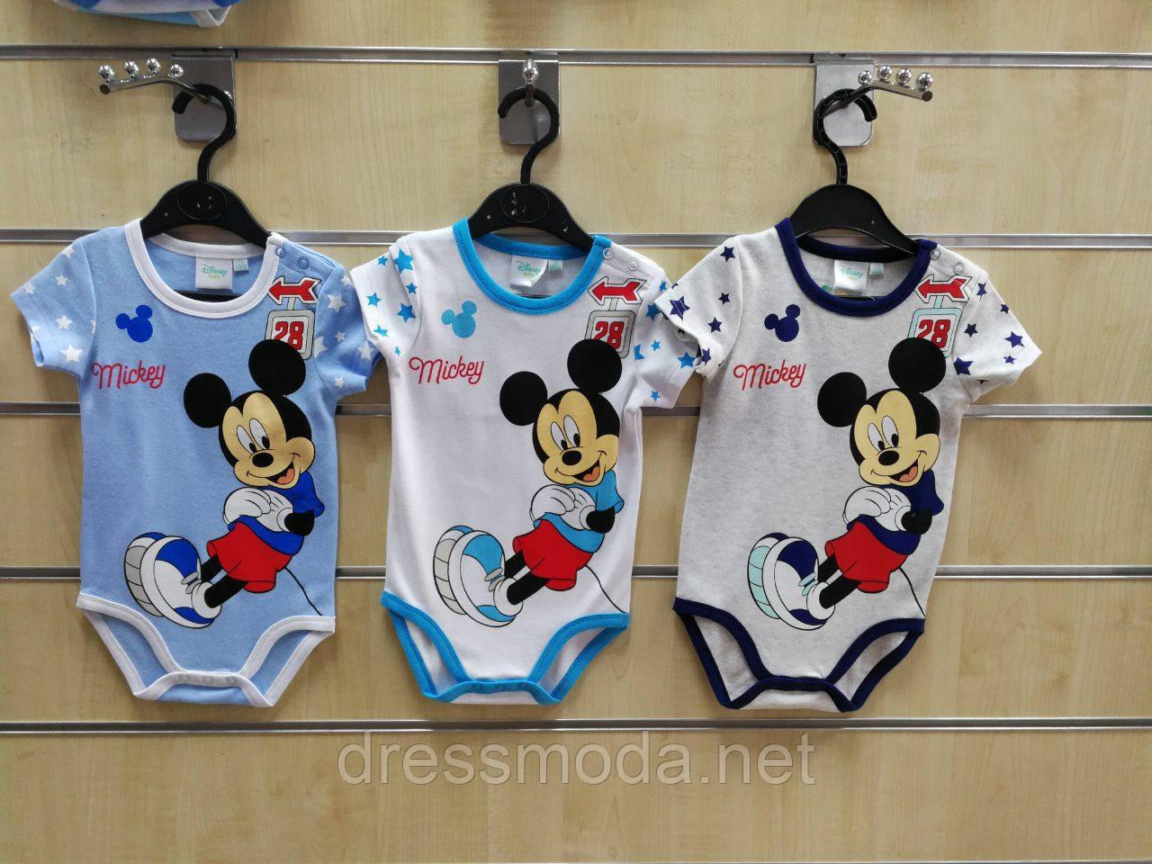 Бодики детские Mickey Mouse 68-86 р.р.