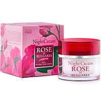 Ночной крем для лица без парабенов Rose of Bulgaria, 50 мл