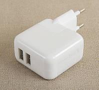 Сетевое зарядное iPad 1/2/3/4 iPod iPhone 12w 2 USB