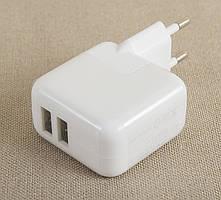 Мережевий зарядний iPad 1/2/3/4 iPod iPhone 12w 2 USB