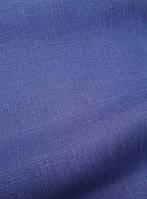 Льняная ткань для постельного белья лазурно - синего цвета (шир. 260 см), фото 1