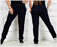 Прямые женские брюки Батал до 56 р 17728, фото 1