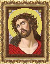ИП-104 Иисус в терновом венце. Схема для вышивки бисером