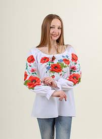 Оригинальная батистовая вышитая блузка  Богуслава