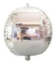"""Шар фольгированный Сфера 14"""" (35 см) серебро металлик Китай"""