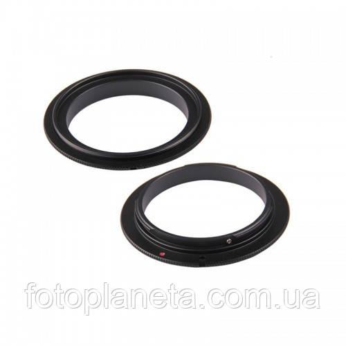 Реверсивное кольцо для макро съемки с байонетом Canon 49 мм