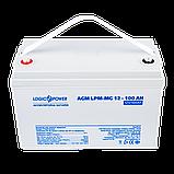 Аккумулятор мультигелевый AGM LogicPower LPM-MG 12 - 100 AH, фото 2