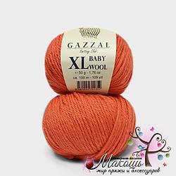 Пряжа Бэби вул XL Baby Wool XL Gazzal, 819, коралл