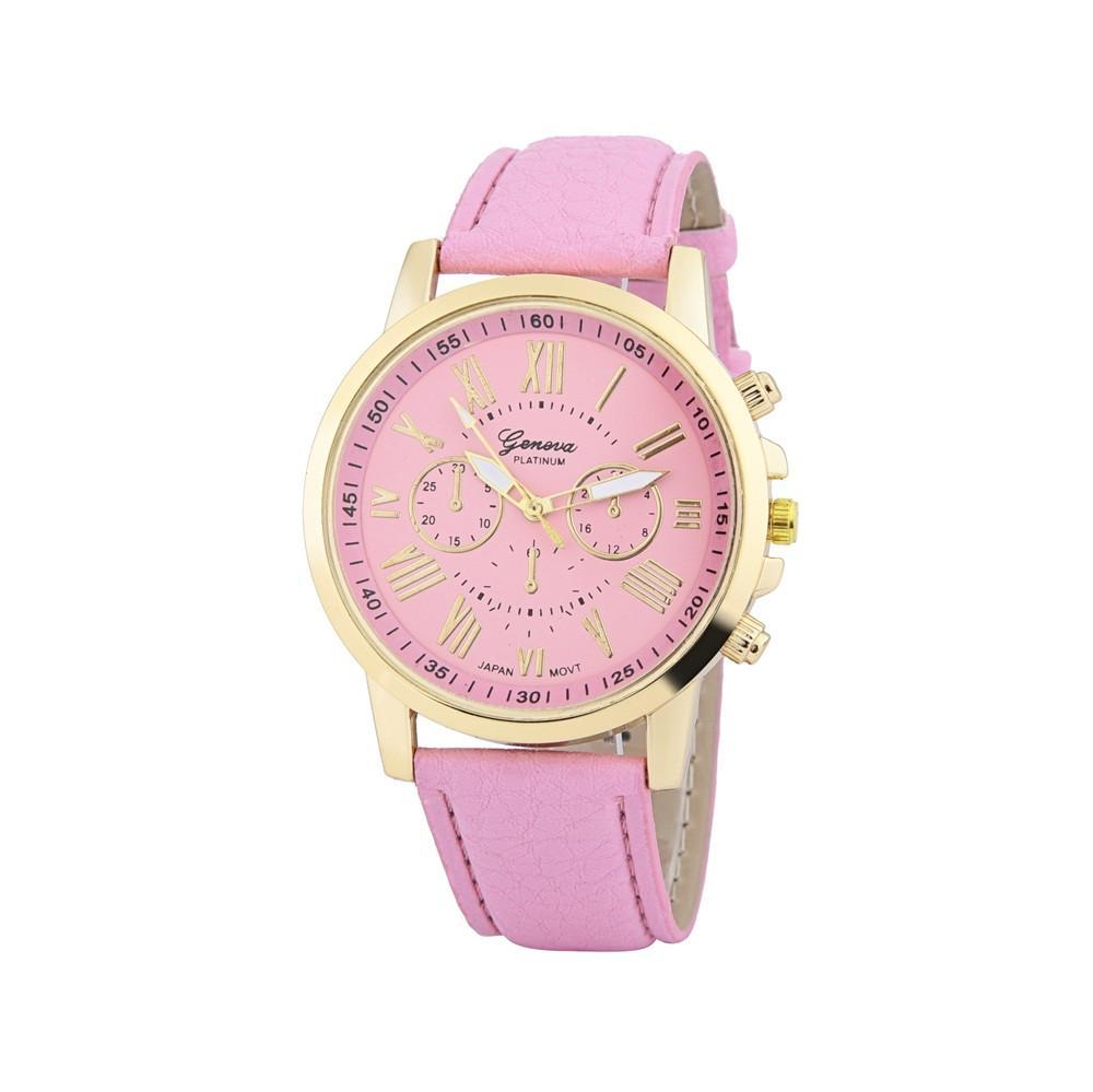 Женские часы Geneva Platinum с розовым ремешком из экокожи 5 - MaxR интернет  магазин приятных мелочей 1166b499088d8